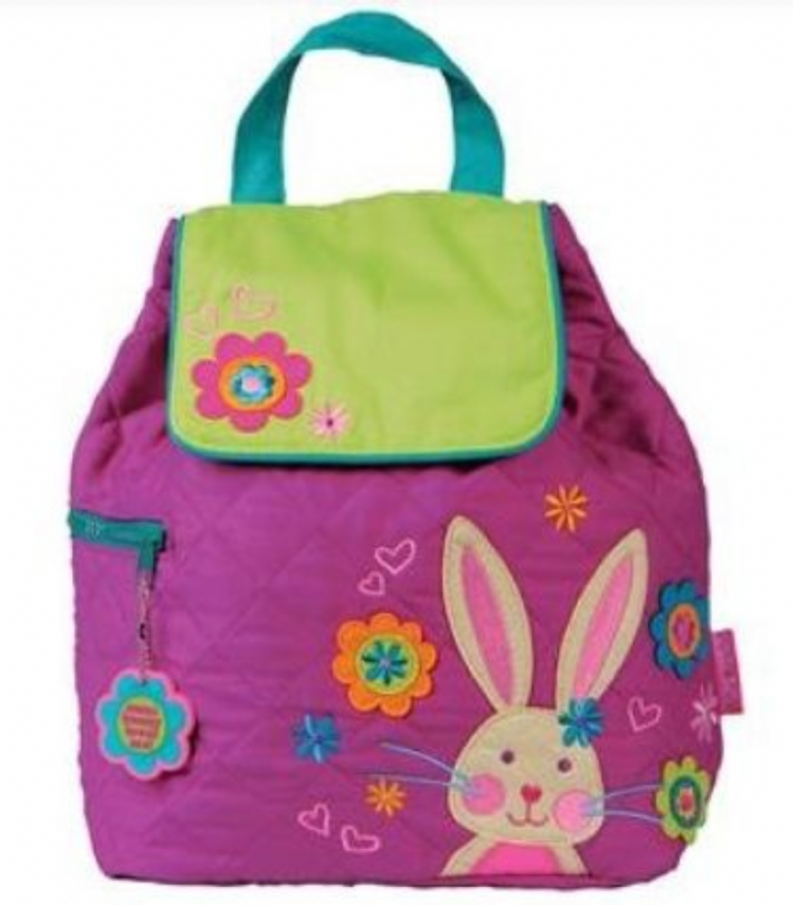 Stephen Joseph Quilted Bunny Backpack